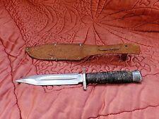 Couteau de chasse/poignard ancien avec étui en cuir-lame de tolède