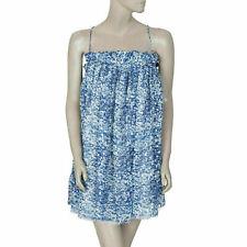 Etoile Isabel Marant Shimmer Blue Tunic Dress Beach Wear Summer M New 193899