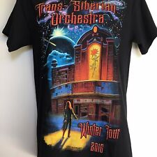 Trans Siberian Orchestra Sz S Concert T Shirt Graphic Tee Black Winter Tour 2016