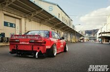 FRP ROCKET BUNNY WIDE-BODY STYLE REAR WING TRUNK SPOILER FOR NISSAN S13 SILVIA