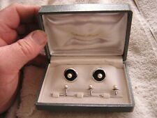 Vintage Cultured Pearls Cufflink Set