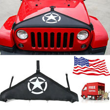 Front Hood Cover T Style Bra For 2007-2017 Jeep Wrangler Five Stars Logo yh
