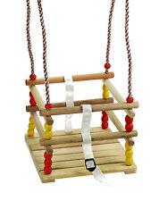 Gitterschaukel für Kleinkinder Babyschaukel aus Holz Baby Kleinkindschaukel
