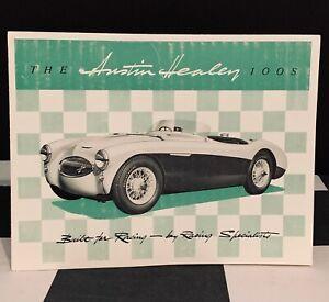 1955 AUSTIN HEALEY 100S 100 S SEBRING ORIGINAL SALES BROCHURE 1172 RACING BMC