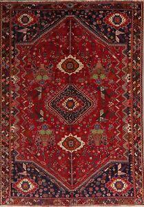 BLACK FRIDAY DEAL Vintage Abadeh Geometric Tribal Oriental Handmade Area Rug 6x9