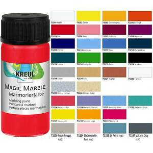 Magic Marble Marmorierfarbe (16,45€/100ml) Farbe zum Marmorieren 20ml 33 Farben