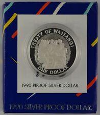 New Zealand - 1990 - Silver Dollar Proof Coin - 150th Anniversary [Waitangi]