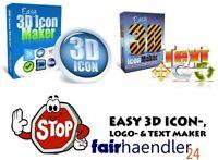 ►►►Grafik Software 3D ICON Paket V1 V2 Logo TextMaker Master Reseller Lizenz MRR