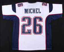 Sony Michel Signed White Jersey - Authentic Autograph Beckett BAS COA