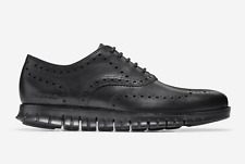 Cole Haan Men's Zerogrand Wing Wingtip Ox Oxford Leather Black 10 M [C20719] tip