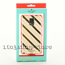 Kate Spade Cover Case for Samsung Galaxy Note 4 Diagonal Stripe Gold/Cream/Pink