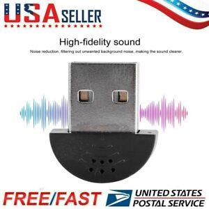 Mini USB Microphone Portable Studio Speech Mic Audio Adapter For Computer PC US