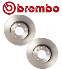 For BMW E82 E90 318ti Z3 Pair Set of Two Front Disc Brake Rotors Solid Brembo
