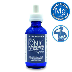 Ultra Potent High-Strength Nano Ionic Liquid Magnesium + Vitamin C, 60ml Bottle