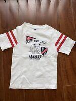 Janie and Jack Boys Red White Blue Embroidered Varsity Club Bulldog T-Shirt 3