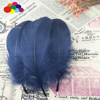 100 Pcs Goose feathers navy 15-20 Cm/6-8 Inch Diy Stage Props Decor Headress