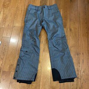 Womens Columbia Titanium Omni-Tech Snow Ski Pants Gray Stripes Polyester sz S