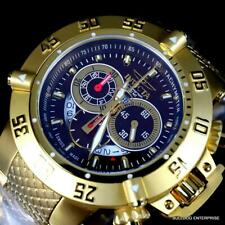 Invicta Subaqua Noma III Swiss Made Chronograph 18kt Gold Plated Brown 50mm New