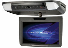 "POWER ACOUSTIK PMD-90 9"" FLIP-DOWN CEILING CAR MONITOR BUILT IN DVD PLAYER FM"