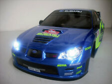 TAMIYA 1/10 RC SUBARU IMPREZA WRC 07 CUSTOM PAINTED BODY - LED HEAD & TAIL LIGHT