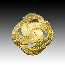 High Quality Vintage Metal Button Gold Color w/ Ribbon Pattern 25mm 40002016