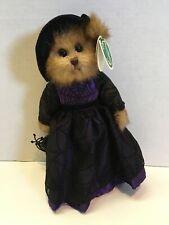 """Hocus Pocus Bearington Collection 11"""" Bear Black Hat Dress & Bag"""