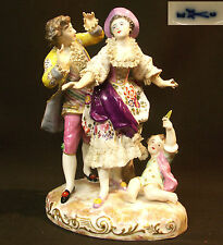 A 19èm Choisy le Roy superbe sujet figurine porcelaine group 1.2kg23cm Meissen