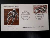 NIGER  AERIEN 57  PREMIER JOUR FDC     ASTRONOME EDWARD WHITE     50F      1966