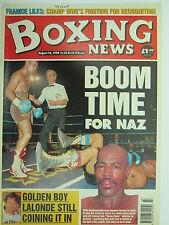 Boxing News 16 Aug 1996 Naz-Johnson Frankie Liles Mark Johnson Toney Lalonde