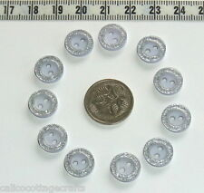 Buttons Embellishments Blue Glitter 11.5mm Knitting Sewing Patchwork #353