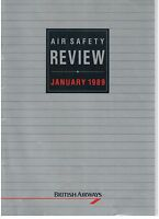BRITISH AIRWAYS AIR SAFETY REVIEW JANUARY 1989 BA