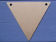 12cm x 14cm Wooden Plain Plywood Triangle Bunting Craft Shape Blank Pack of 5