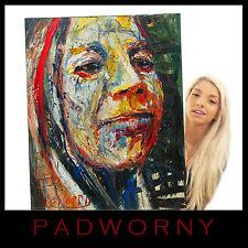 ORIGINAL OIL PAINTING LARGE IMPRESSIONIST ART POP FUNKY PORTRAIT FOLK ABSTRACT