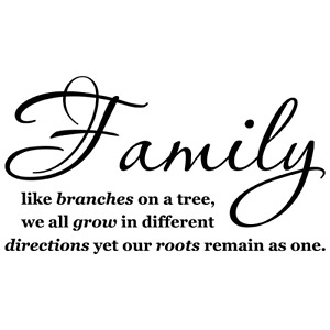 FAMILY TREE-TOGETHER LOVE QUOTE VINYL WALL DECAL STICKER ART- WORDS HOME DECOR