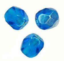 50 Perles Facettes cristal de boheme 4mm - LIGHT CAPRI BLUE
