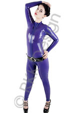 XXL 100% Latex Rubber PURPLE Catsuit Second Skin Top Quality *HOT*