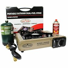 Camp Stove Portable Backpacking Multi fuel Outdoor Picnic Gasoline Burner Butane