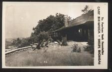 RP Postcard SHELBY Michigan/MI  Youth Camp Miniwanca Cabin Lodge Gardens 1930's
