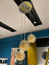 Amber Flare Triple Pendant Ceiling LED Light Small