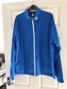 Footjoy Men's Full Zip Golf Top Jacket Blue Lightweight Medium M Jumper FJ
