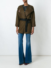 Isabel Marant Wool Belted Jacket Wrap Coat Manteau Feodor Bronze size 40 $1,050