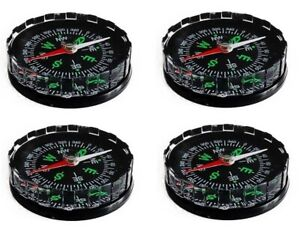 4x Tragbarer Taschenkompass Kompass Navigation Wandern Reise Marschkompass 4,5cm