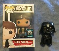 Funko Pop! Star Wars Han Solo #91 Galactic Convention and Darth Vader #143