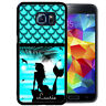 PERSONALIZED RUBBER CASE FOR SAMSUNG S9 S8 S7 S7 S6 S5 PLUS MERMAID BEACH BLUE