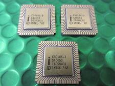 C80186-3, Rare, Collectable, INTEL CPU, 16bit 1MB 68pin Ceramic LCC. New.