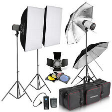Neewer 750W Pro Photography Strobe Flash Light Kit for Advertising Products