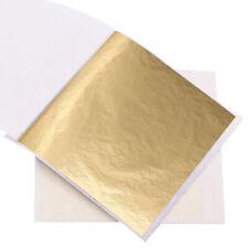 Hoja de oro de Imitación Hojas de papel de hoja de oro 100 piezas, arte decoración dorado, hágalo usted mismo