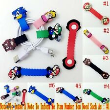 1PCS Kid Super Mario Bros Earphone Wire Cord Winder Wrap Organizer Cable Holder
