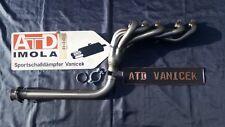 AUDI 80/90/100 5 cilindro tipo 81/85/89/b4/43/44/c4/32b IN ACCIAIO INOX CURVA scomparti