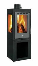 Wood Burning Stove Solid Fuel Fireplace with 3 Glasses 11 kW Prity PMV3